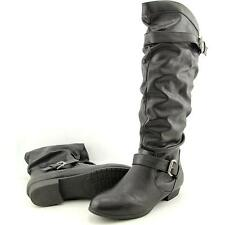 Rampage Basking Women US 7 Black Knee High Boot Pre Owned  1033