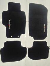 Fit 03-07 HONDA ACCORD Black Nylon Floor Mats Carpet W/ Emblem