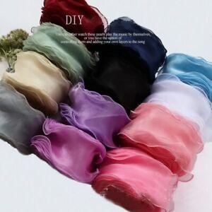 5 Yards Wave Silk Gauze Organza Ribbon Bow Material Gift Wrapping Decoration