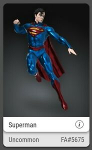 VeVe Digital Art Superman FA#5675 of 8888 Uncommon Sold out. Full Set
