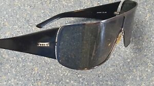 Sting Black Shield Wrap Made in Italy Designer Sunglassses As Is Eye Cover