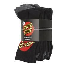Santa Cruz Big Dot Socks 4pk Black