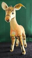 "VINTAGE STEIFF OKAPI  Velveteen, 6"" TALL - ALL ID BUTTON & TAGS #6414,00 LQQK"