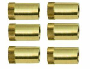 6  Stück Messing-Verstärkerhülsen für 8 mm Kupferrohr