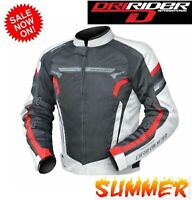 NEW Dririder AIR RIDE 4 Motorcycle Jacket VENTED White/red Summer Road Road