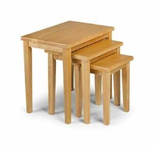 Julian Bowen Cleo Nest of Tables, Oak