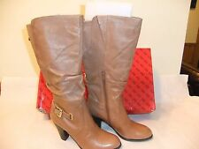 GUESS Mallay Light Brown Leather Fashion  Knee High Boot Size 8.5 NIB $190