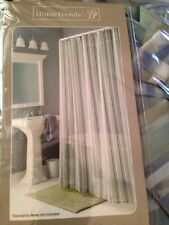 Walmart Green Gray Blue Stripped Shower Fabric Curtain New