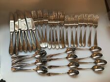 REED & BARTON DALTON FLATWARE USED - SPOON FORKS KNIVES 38 PIECES
