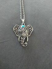 Women Hot Fashion Charm Vintage Silver Elephant Pendant Chain Necklace