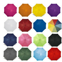 "40"" Classic Automatic Wedding Umbrella with Wooden Crook Handle - Walking Brolly"