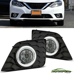 For 2017-2018 Nissan Sentra Clear Lens Fog Lights Assembly Pair