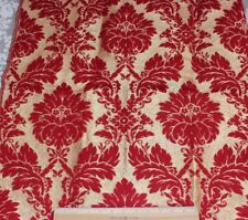 French Vintage Gold Metallic Christmas Red Heavy Cotton Frame Home Dec Fabric