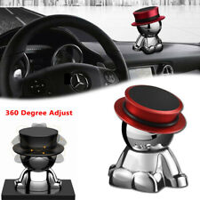Red Hat Man 360°Rotation Magnetic Phone Mount Holder Stand Dashboard Accessory
