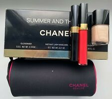 CHANEL SUMMER AND THE CITY SET 3X IN MAKEUP BAG NAIL POLISH GLOSSIMER MASCARA