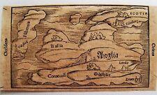 44-23-3 Gravure Sébastien Munster carte Iles Britanniques époque fin XVIe