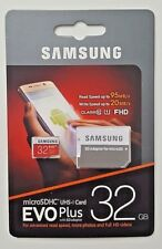 Samsung 32GB Micro SD Card Evo+ Class 10 With Adapter Standard Packaging NEW