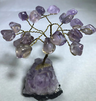 "4"" Amethyst Tree of Life w/ Amethyst Base Crystal Quartz Raw Cluster Natural Sto"