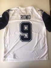 Nike NFL Player Jersey Dallas Cowboys Tony Romo #9 White Jersey Size XL NWT