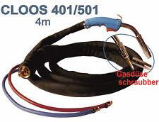 MIG MAG Schweißbrenner MB 401 / 501 Cloos 550A Wassergekühlt Schlauchpaket 4m