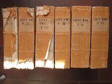 ROLLIN : HISTOIRE DES EGYPTIENS, CARTHAGINOIS, ASSYRIENS..., 1740. 6 vol. in-4