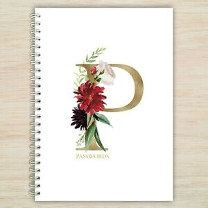 Password Book - A6 Alphabetical Organised Notebook - Stocking filler gift