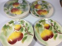 "St Clement France 8"" Fruit Plates Set Of 8 New"