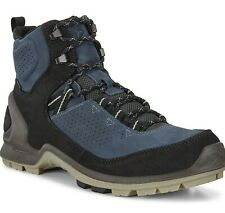 ECCO Biom Terrain Men's Leather GORE-TEX Hiking Boots Blue Size 47, US 13 - 13.5