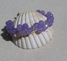 "Lilac Alexandrite Crystal Gemstone Beaded Bracelet ""Enchanted Lilac"""
