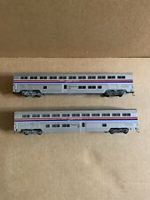 2 Con Cor Amtrak Phase III Superliner Sleeping Cars Knuckle Couplers