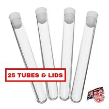 25 x plastic test tubes,150mmx16mm, test tubes with push cap, shots - 20ml