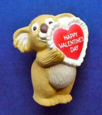 Buy1&Get1@50%~Hallmar k Merry Miniatures Valentines Koala Bear w Lacy Heart 1988