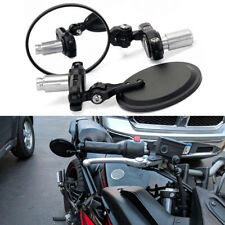 "MOTORCYCLE 7/8"" FOLD HANDLE BAR END REAR MIRRORS FOR DUCATI MONSTER SPORT BIKES"