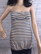 DKNY Striped Tube Top Sexy Raver Cute Hipster Casual Shirt Dress