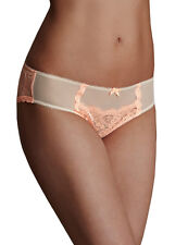 M&S COLLECTION Women's Nude Mix Lace Low Rise Brazilian Knicker BNWT