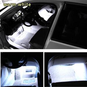White LED Car Interior Accessories Floor Decora Atmosphere Strip Lamp Lights