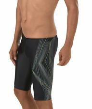 Speedo Men's PowerFLEX Eco Linear Lines Jammer Swimsuit Size M (32) Swimwear
