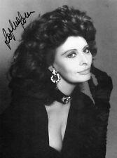 Sophia Loren signed stunning 6x4 promo photo card / autograph