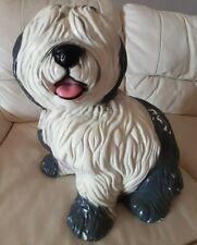 More details for vintage large advertising figure old english sheepdog dulux dog chalkware? 15