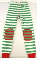 Hanna Andersson Mix Up Long John Pants 120 US 6-7 Red Green White Holiday Stripe
