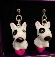 Silver Plated Drop/Dangle No Stone Ceramic Costume Earrings