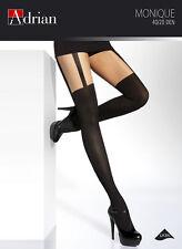 Mock Suspender Tights Stockings 40/20 Den size S M L XL XXL Patterned Monique
