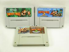 SUPER DONKEY KONG 1 2 3 Set SDK Super Famicom Video Game Cartridge Only sfc