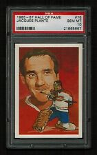 PSA 10 JACQUES PLANTE 1985 Hall of Fame Hockey Card #76