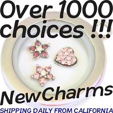Floating Locket Charms for your Necklace or Bracelet BIG SELECTION = Great Gift