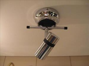 Christopher Wray modern style adjustable spot light in chrome and black
