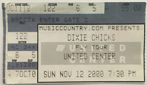 Dixie Chicks Concert Ticket Stub Fly Tour (November 12, 2000, United Center)