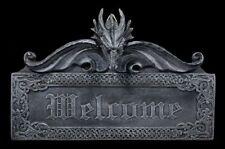 Dragones Letrero para puerta willkommen - Welcome - FANTASY drachenschild