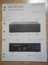 Kenwood Service Manual~KM-893/993 Amplifier/Amp~Original Repair Book