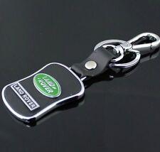 LG69 PU Leather Black Buckle Keyring For Land Rover Car Logo Key Ring Keychain